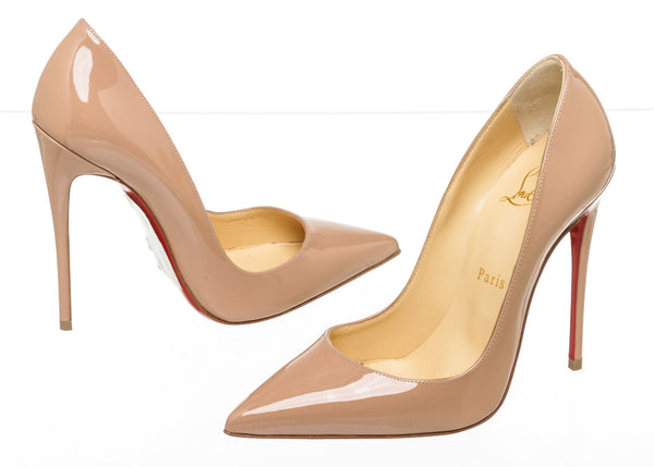 Christian Louboutin Nude Patent So Kate 120 Pumps Size 36.5