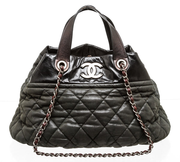 Chanel Black and Grey 31 Rue Cambon Tote