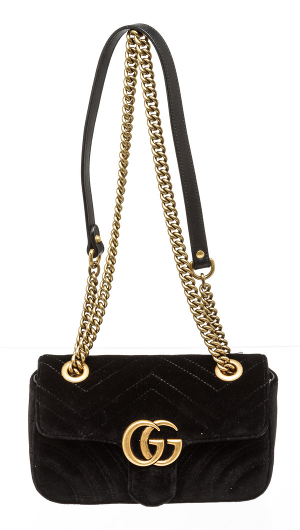 Gucci Small Black Marmont Shoulder Bag