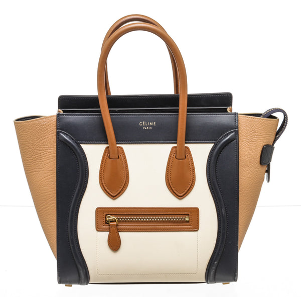 Celine Tri-Color Luggage Tote