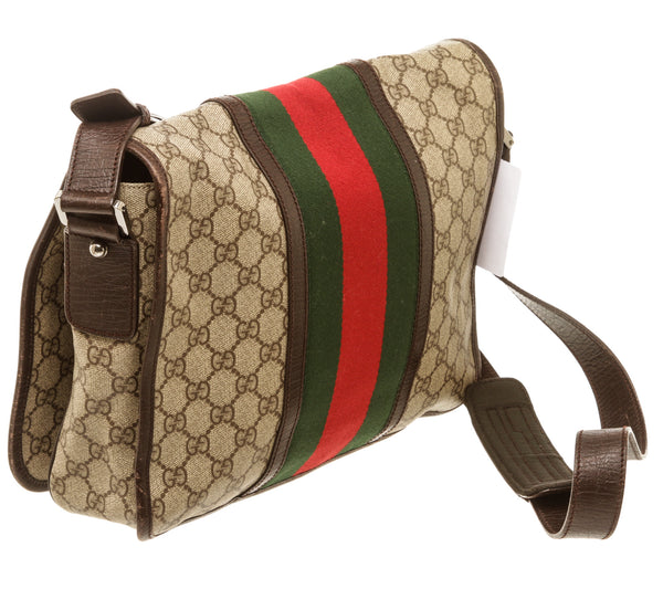 Mens Gucci Supreme Web Messenger Bag