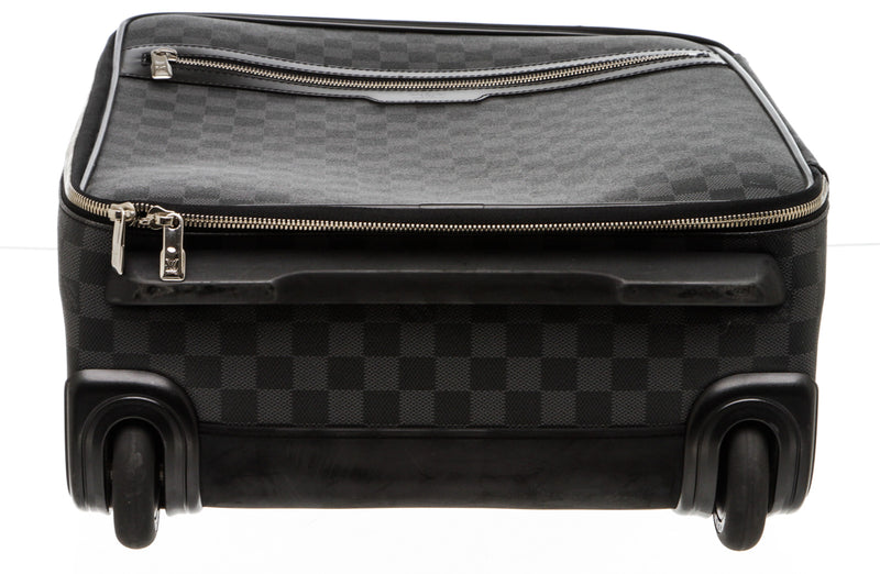 Louis Vuitton Gray And Black Leather Damier Graphite Pegase 55 Business NM