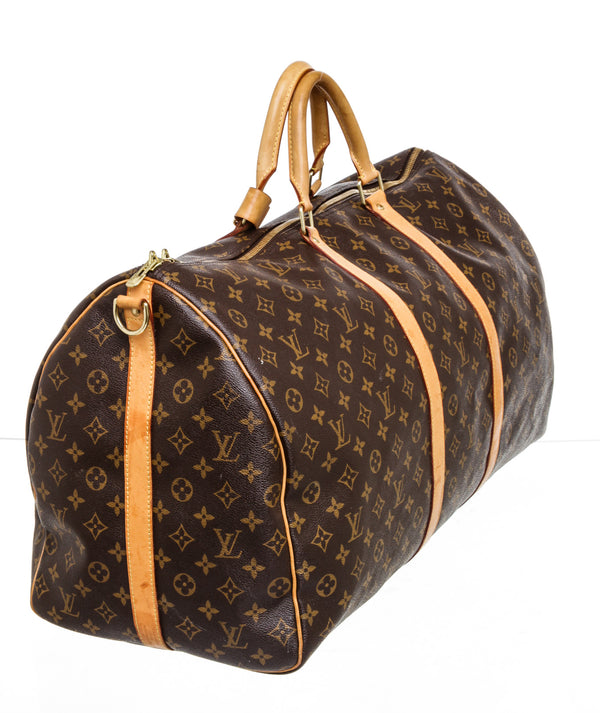 Louis Vuitton Brown Monogram Canvas 60 Bandouliere Keepall