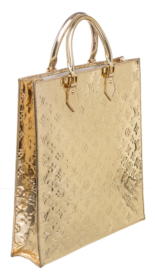 Louis Vuitton Gold Leather Metallic Miroir Sac Plat