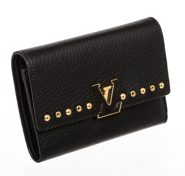 Louis Vuitton Black Taurillon Leather Capucines Wallet