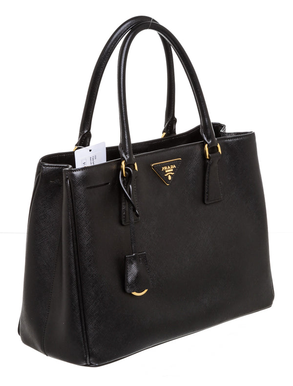 Prada Small Black Saffiano Leather Lux Handbag