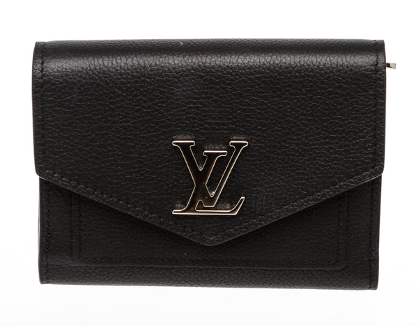 Louis Vuitton Black Calf Leather MyLockMe Compact Wallet