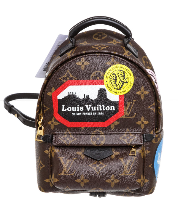 Louis Vuitton Mini Brown Monogram World Tour Palm Springs Backpack