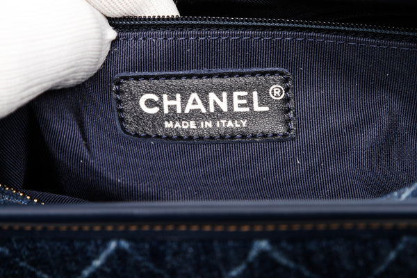 Chanel Blue Denim Gabrielle Hobo Bag