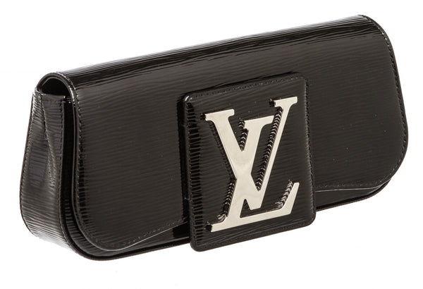 Louis Vuitton Black Epi Electric SoBe Clutch Bag