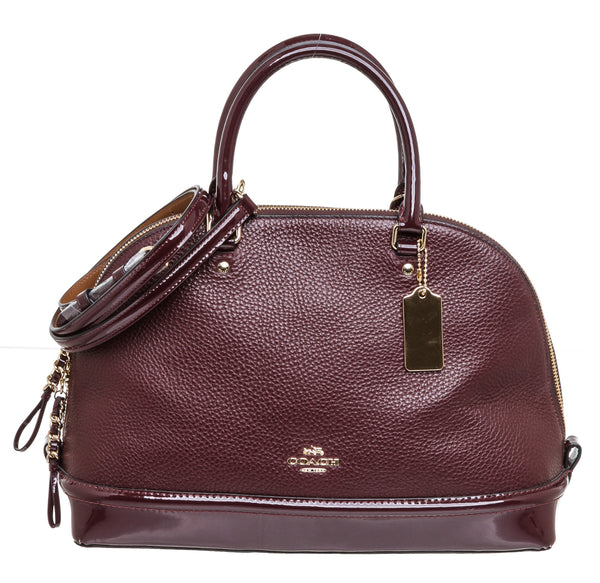 Coach Burgundy Leather Sierra Satchel