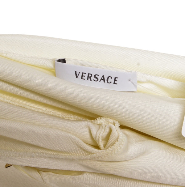 Versace Cream Star Pin 3/4 Sleeve Top (Small)
