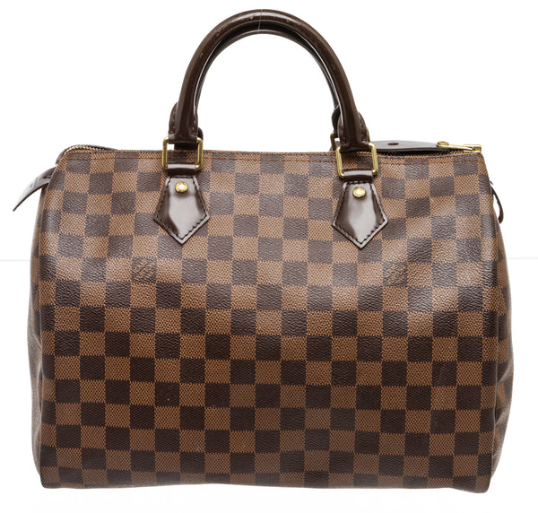 Louis Vuitton Damier Ebene Speedy 30 Handbag