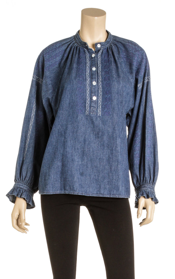 Celine Blue Denim Tunic (Size S)