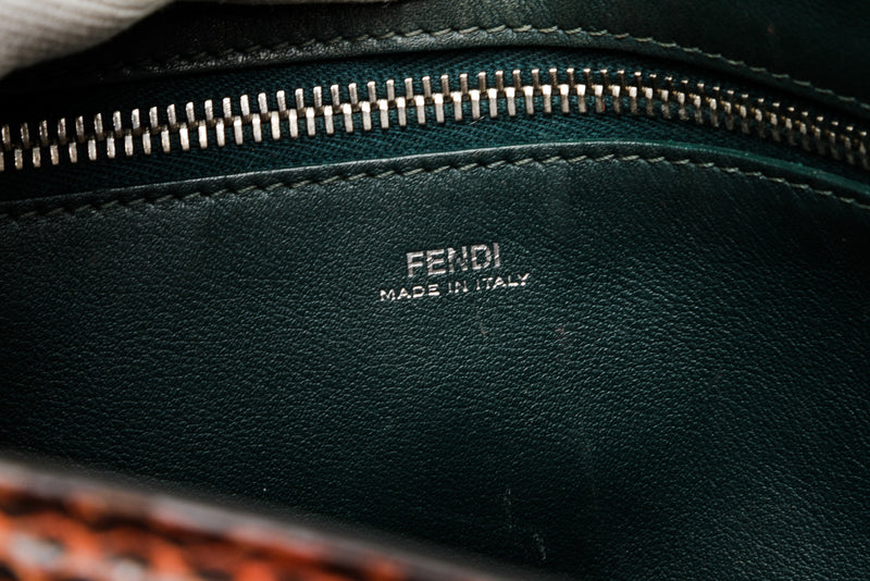 Fendi Navy Blue Calfskin Leather Dotcom Shoulder Bag SHW