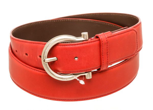 Mens Red Ferragamo Belt 42