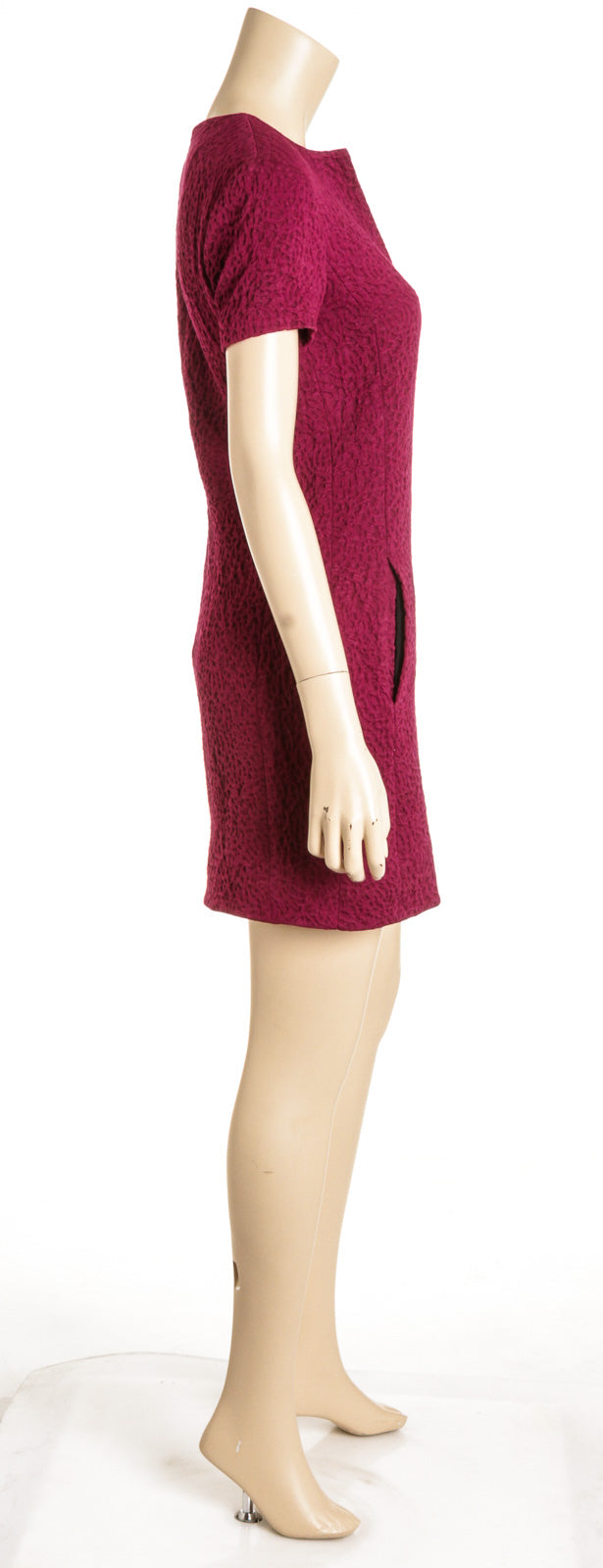 Balenciaga Magenta Cotton Mini Dress (Size 38)