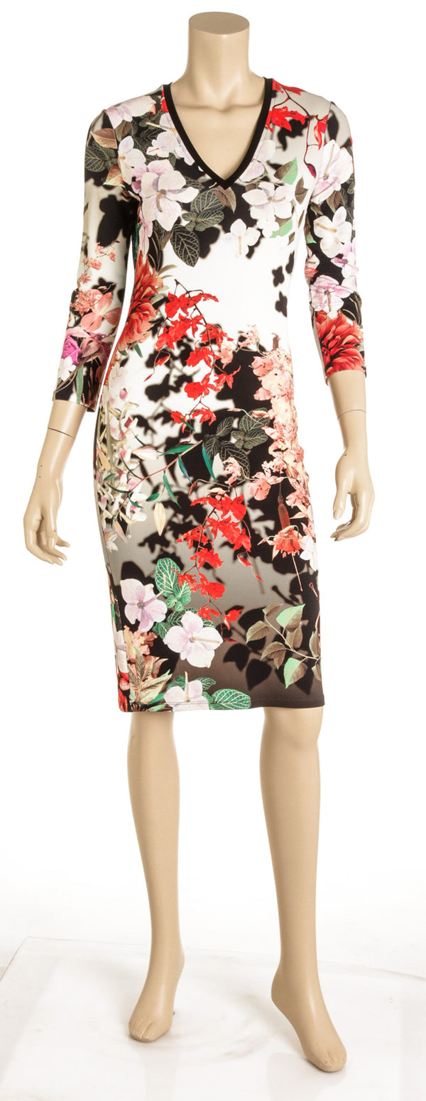 Roberto Cavalli Knit Floral Dress ( Size 42)