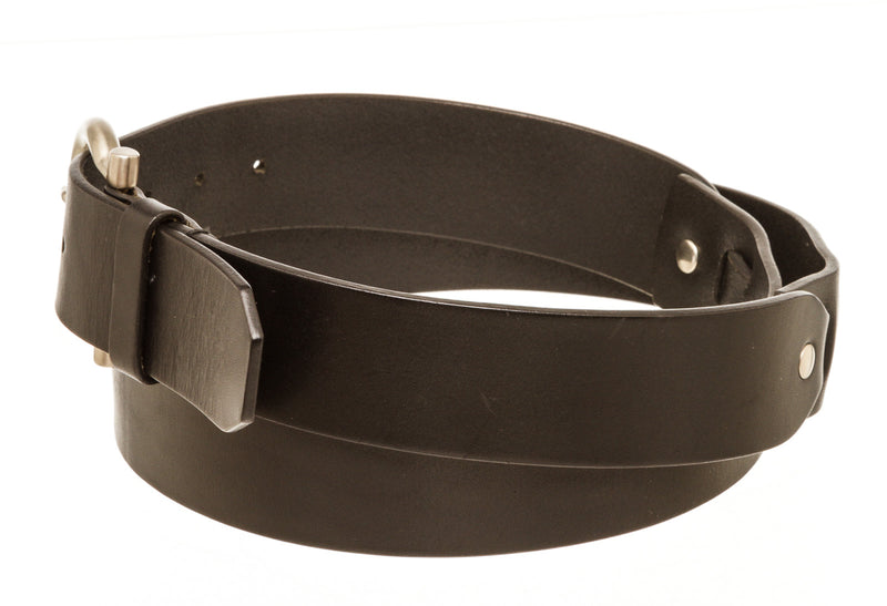 Mens Ferragamo Black Leather Belt 110
