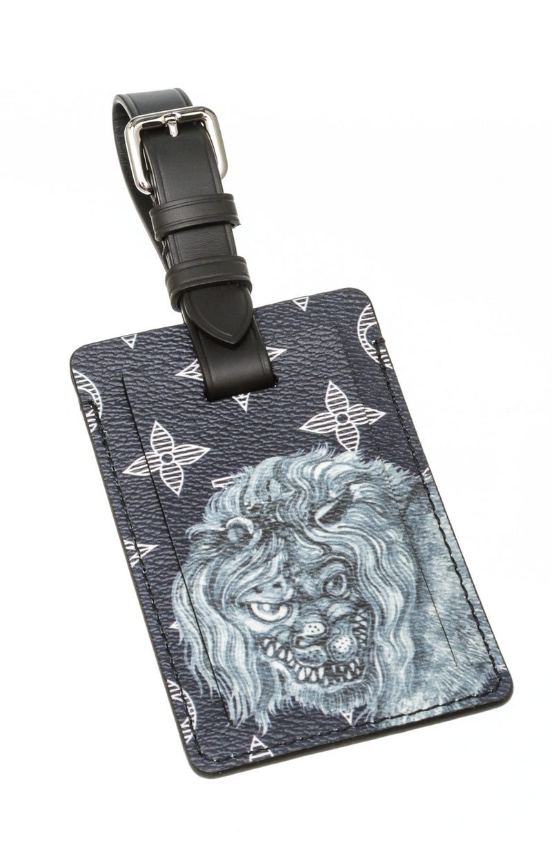 Louis Vuitton Savane Lion Luggage Tag