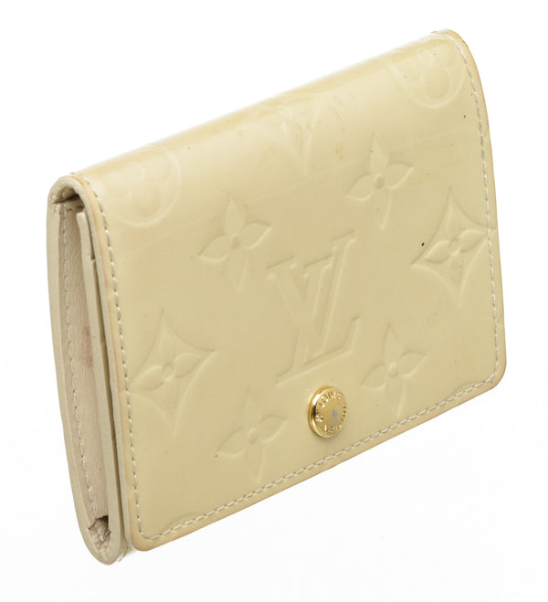Louis Vuitton Patent Compact Cream Vernis Wallet
