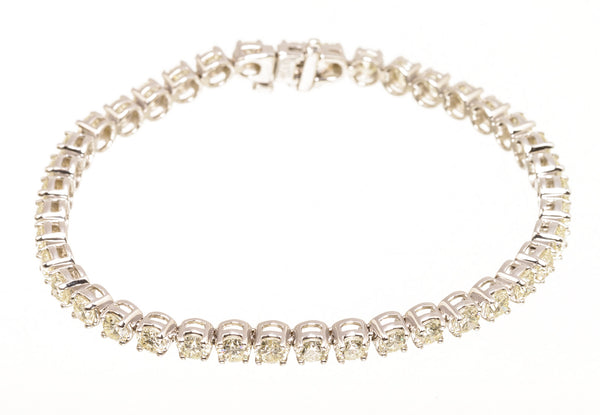 Round Diamond White Gold Tennis Bracelet