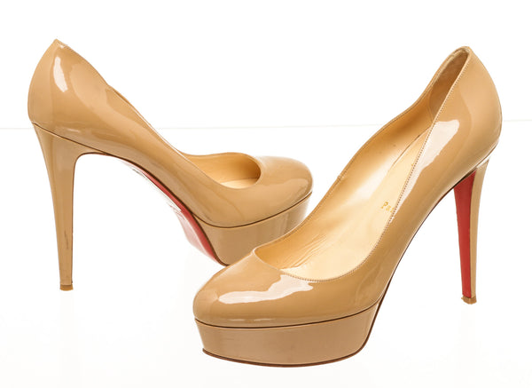 Christian Louboutin Nude Patent Leather Pumps Size 42