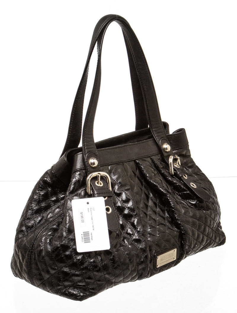 Moschino Cheap and Chic Black Quilted Leather Shoulder Bag