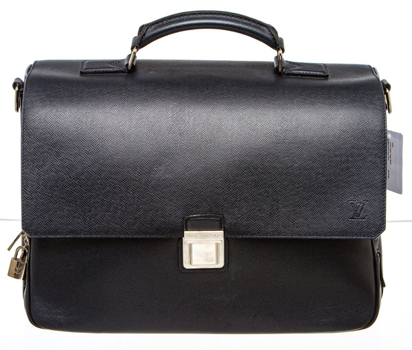 Louis Vuitton Black Taiga Vassili Briefcase