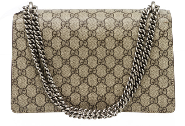 Gucci Beige GG Supreme Monogram Dionysus Shoulder Bag SHW