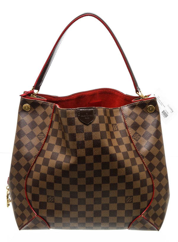 Louis Vuitton Cherry Damier Ebene Caissa Hobo Bag