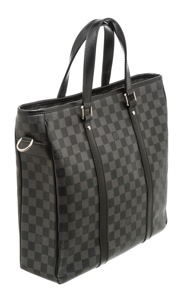 Louis Vuitton Black Gray Damier Graphite Porte Documents Voyage Travel Bag