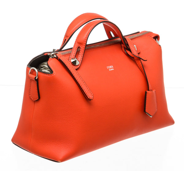 Fendi Red Leather By The Way Medium Satchel Bag