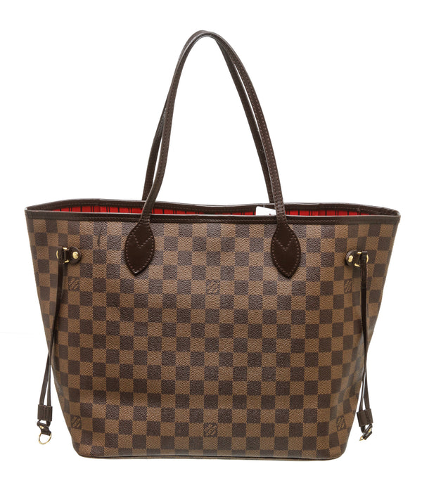 Louis Vuitton Brown Damier Ebene Neverfull MM Tote GHW