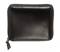 Comme Des Garçons Black Leather Zip Around Wallet