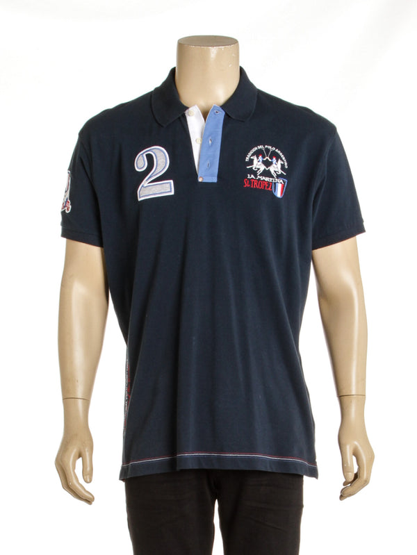 Men's La Martina Navy Polo Shirt (Size XXL)