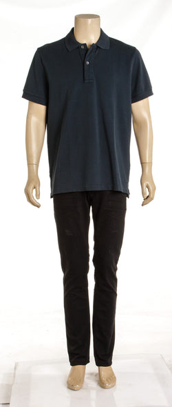 Men's Tom Ford Navy Blue Collard Polo Shirt ( Size 56)