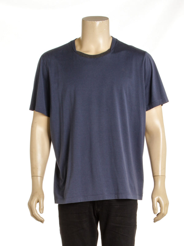 Men's Louis Vuitton Blue Wardrobe Script T Shirt