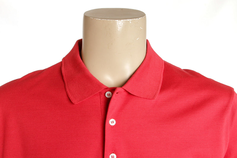 Men's Louis Vuitton Red Pique Polo Shirt (Size 5L)