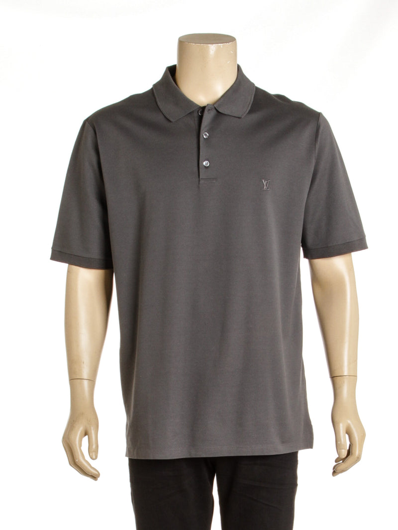 Men's Louis Vuitton Gray Pique Polo Shirt( Size 5L)