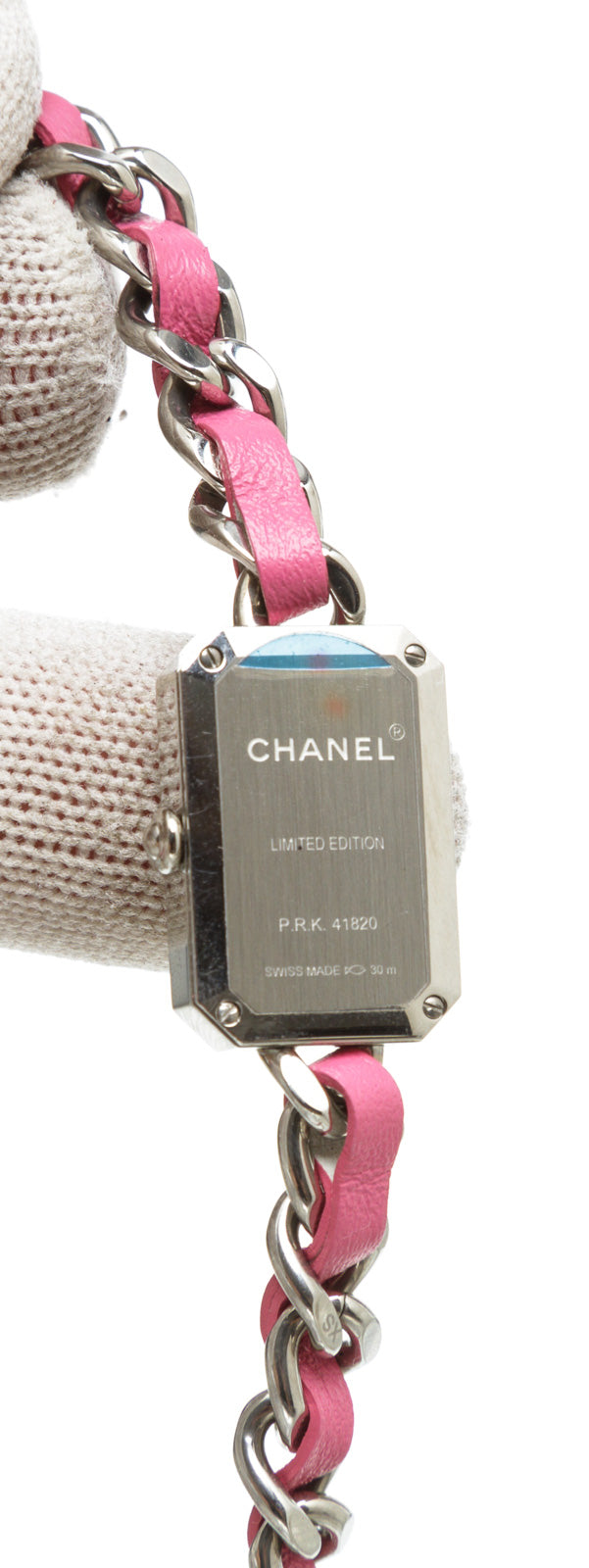 Chanel Pink and Stainless Steel Première Rock Watch