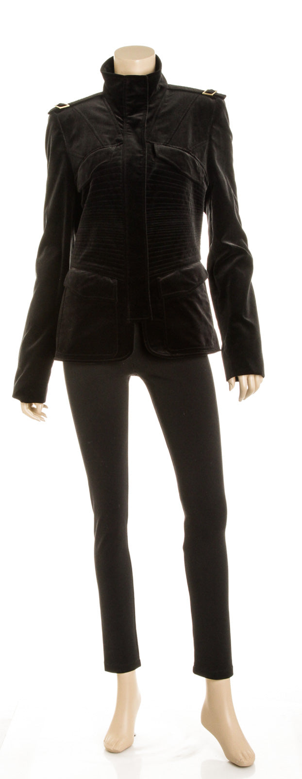 Gucci Black Velvet Jacket (Size 46)