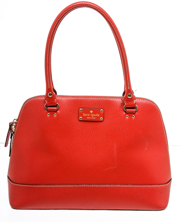 Kate Spade Red Leather Dome Shoulder Bag