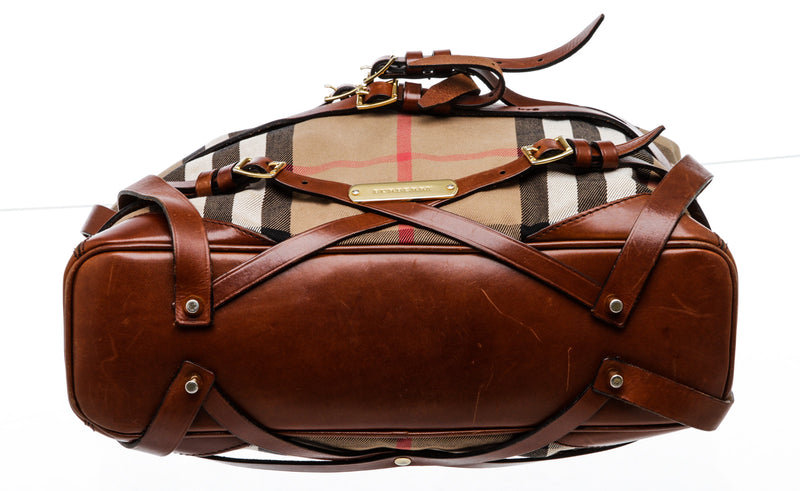 Burberry House Check Bridle Gosford Hobo