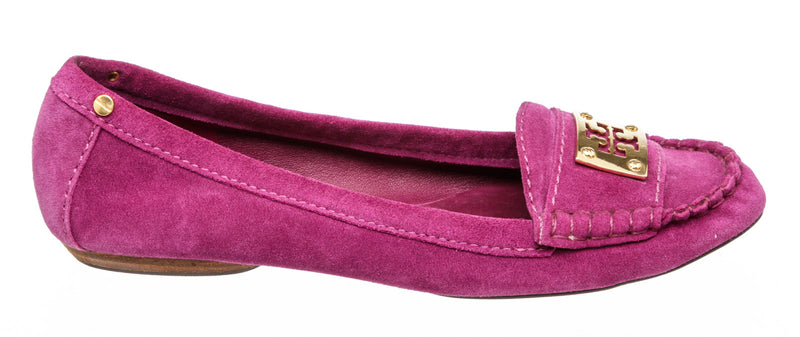 Tory Burch Magenta Suede Loafers (Size 10)