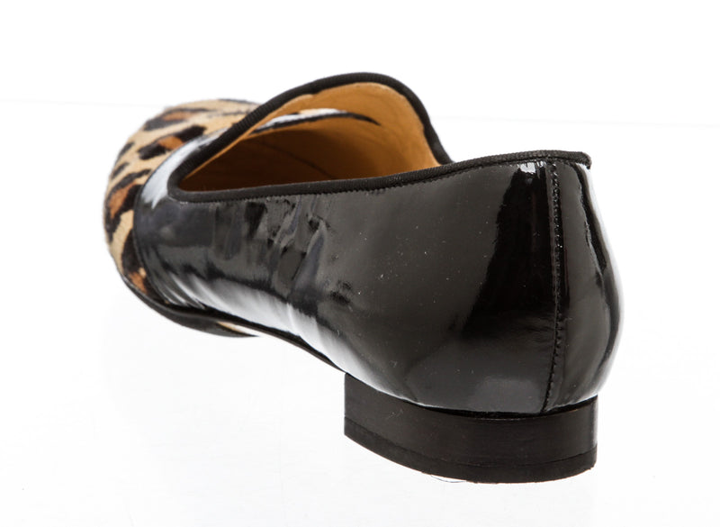 Charlotte Olympia Black Patent Bisous Flats (Size 37)