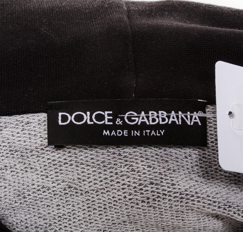 Dolce & Gabbana Black Hooded Angels Printed Jersey Sweatshirt (Size 46)