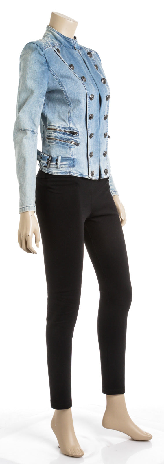 Pierre Balmain Denim Long Sleeve Jacket (Size 36)