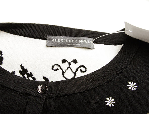 Alexander MCQueen Two Piece Black and White Cardigan and Skirt (Size XL/L)