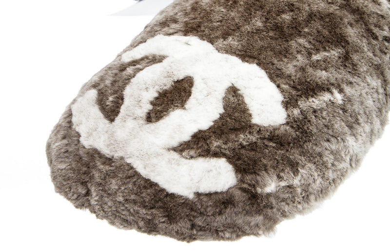 Chanel Gray Orylag Neck Pillow